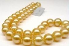 """AAA 8mm round Gold Sea South Shell Pearl Necklace 18"""""""