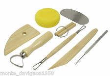 8pc Pottery Clay Molding Sculpting Tools Set