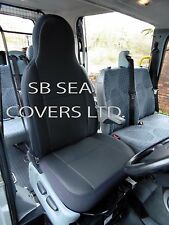 PEUGEOT BOXER VAN SEAT COVER  ANTHRACITE CLOTH 1 SINGLE DRIVER'S