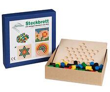 Steckspiel Steckbrett Holzsteckspiel STERN 24 x 24 Steckspiele von Egermann
