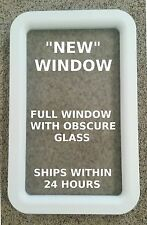"""NEW!!!"" White RV Travel Trailer Entry / Entrance Door Window Frame & Glass"
