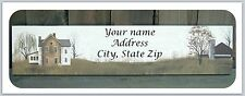 Personalized Return Address Labels Primitive Country Buy 3 get 1 free (c798)
