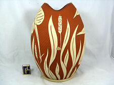 "Huge typical 50´s "" Fischmaul "" design SAWA Keramik pottery Vase   35,5 cm"