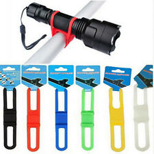 4Pc Bicycle Silicone Mount Tie Strap Bandage Band Holder for Flashlight Phone