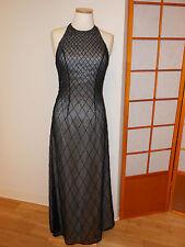 CASSANDRA STONE BLACK BEADED FULL LENGTH SEXY FORMAL DRESS SIZE 6