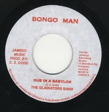 "Gladiators Band ‎– Dub In A Babylon JA 7"" NEAR MINT BONGO MAN ROOTS"