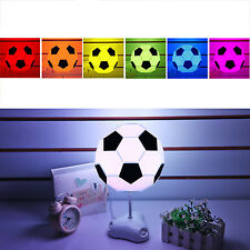 Creative DIY Football Soccer Shape Desk Table Lamp Energy Saving LED Night Light