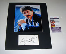 Miami Vice Edward James Olmos Signed Index Card JSA Cert Matted 11x14 Free Ship