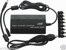 100W Universal Laptop Power Adapter AC Car DC Charger For Laptop/Notebook(Black)