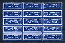NEDERLAND 1930  KLM   AIRMAIL LABEL  (37 AA- 61230 )  PANE OF 15  ** MNH   @16
