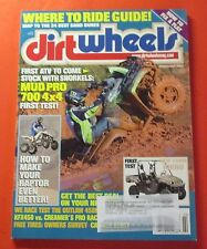 DIRT WHEELS MAGAZINE FEB/2009...MUD PRO 700 4 X 4: FIRST TEST..RIDE GUIDE