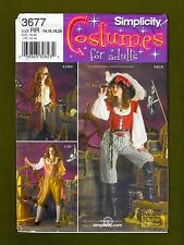 Simplicity Pattern 3677~Misses Pirate Buccaneer Cosplay/Costume (10-18) UNCUT