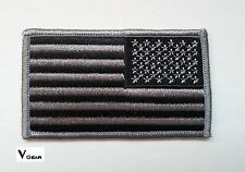 US USA American Flag patch REVERSE SUBDUED BLACK and GRAY  *BUY TWO GET 1 FREE*