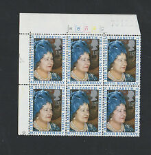 1980 - TRAFFIC LIGHT BLOCK - 80th BIRTHDAY / THE QUEEN MOTHER / MNH