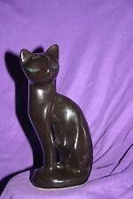 Vintage 1950s ARTMARK Mid Century Modern Black Tall Siamese Cat Figurine  B