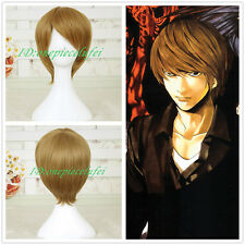 Death Note Yagami Light Brown short cosplay wig + FREE WIG CAP