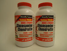 2 X 280 = 560 Capsules GLUCOSAMINE 1500 mg CHONDROITIN 1200 mg HALF YEAR SUPPLY