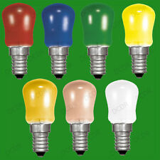 4x 15W Coloured Pygmy Sign Light Bulbs, Display Lamp, Small Screw Cap, SES, E14