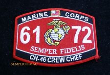 MOS 6172 CH-46 CREW CHIEFT PATCH HAT US MARINES PIN UP USS FMF MWCS WOW
