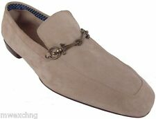 CESARE PACIOTTI US 9.5 ELEGANT SUPPLE SUEDE LOAFERS ITALIAN LEATHER MENS SHOES