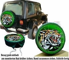 Königs - Tiger Air Brush Repro Auto Jeep Action housse roue secours Suzuki Jimny