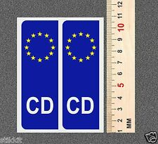 2 x CD CORPS Diplomatic BLUE EURO Сar PLATE STICKER Badge Aufkleber Autocollant