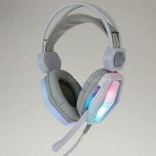USB Wired Gaming Headset Earphone Over-Ear with Mic LED Backlit DC Plug Y8H7