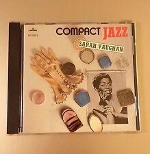 Compact Jazz: Sarah Vaughan by Sarah Vaughan (CD, Jun-1987, Universal Motown)