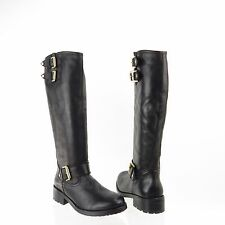 Kurt Geiger Magnum Women's Shoes Black Leather Knee High Boots Sz EU 38 New $550