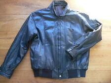 Vintage Retro Jacke Lederjacke blau Herren Blouson 70er Jahre gefütter