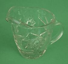 Collectible ANCHOR HOCKING Prescut Star of David Clear Glass Creamer Pitcher EUC
