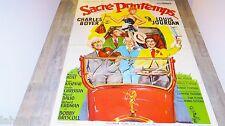 SACRE PRINTEMPS ! charles boyer louis jourdan  affiche cinema 1952