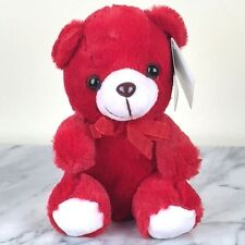 "Plush Red Sitting Teddy Bear Toy - 6"" tall - Brand New with Tag"