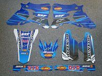 Yamaha WRF wrf 250 / 450 03 - 04 FMF Graphics Kit INCLUDING CUSTOM BACKROUNDS