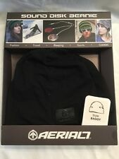 Aerial7 Sound Disc Beanie Baggy Style Black Red Integrated Earphones Iphone MP3