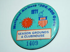 Vtg National Airlines Olympics Games 1971 Seasons Grounds Button pin NAL Rare b6