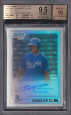2010 BOWMAN CHROME DRAFT REF AUTOGRAPH #/500- CHRISTIAN COLON RC BGS 9.5 AUTO 10