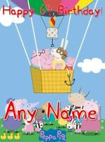 PEPPA PIG - PERSONALISED  Birthday Card A5 + free postage