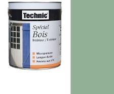 PEINTURE SPECIAL BOIS 0.5 L TECHNIC VERT OLIVIER MICROPOREUX longue durée