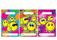 36 PARTY BAGS SMILEY FACE Loot Empty Patterned Gift sweet treat bag kids