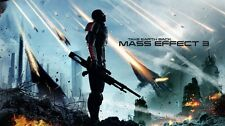 "Mass effect 2 3 4 Game Fabric poster 43"" x 24"" Decor 97"