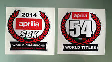 2014 World Super Bike Champions Decal Stickers for Aprilia