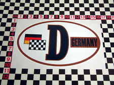 Retro Style Germany D Sticker BMW Isetta 2002 1602 VW Beetle Karmann Ghia Type 3