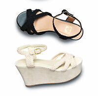 WOMENS LADIES NEW HEEL BLOCK WEDGE PLATFORM FLATFORM SANDALS SHOES SIZE 3-8