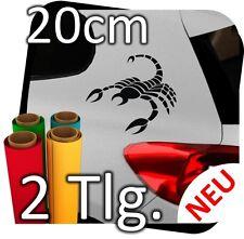 2x 20cm Skorpion Scorpion Aukleber Sticker Autoaufkleber Tattoo Auto Wandtattoo