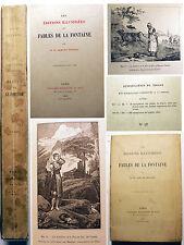 LA FONTAINE/ LES EDITIONS ILLUSTREES../DR DESPRES/1892/SUR JAPON/INTROUVABLE!!!!