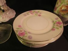 "GHB Japan 9-1/4"" Luncheon Plate Pink, Purple & White Flowers"