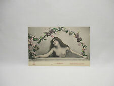 CPA ANCIENNE CARTE POSTALE 2 SEDUCTRICE EROTIQUE SEINS NUS CITATION EROTIC