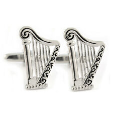 Fine Detailed Classic Harp Cufflinks New & Boxed irish stout orchestra AJ431