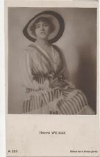 POSTCARD ACTRESSES  Hanni Weisse